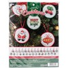 "Picture of Christmas Minis Ornaments Counted Cross Stitch Kit-2.5"" Round 14 Count Set Of 30"