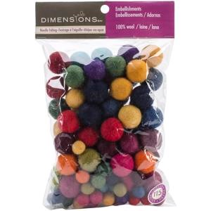 Picture of Dimensions Feltworks Ball Assortment-115/Pkg