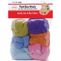 Picture of Colonial Paint Box Wools .33oz 6/Pkg-Earth, Sea & Sky -Orn/Olv/Pur/Pk/Bl/Seaf