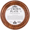 "Picture of Sudberry House Mahogany Crown Plate 11.5"" Round-Design Area 8"" Round"