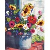 "Picture of Dimensions Crewel Kit 11""X14""-Bucket of Flowers Gallery-Wool & Yarn"