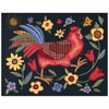 "Picture of Dimensions Crewel Kit 11""X14""-Rooster On Black-Stitched In Wool/Thread"
