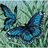 "Picture of Dimensions Mini Needlepoint Kit 5""X5""-Butterfly Duo Stitched In Thread"