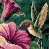 "Picture of Dimensions Mini Needlepoint Kit 5""X5""-Hummingbird Drama Stitched In Thread"