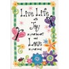 "Picture of Dimensions Mini Crewel Kit 5""X7""-Live Life-Stitched In Thread"