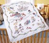 "Picture of Bucilla Stamped Crib Cover Cross Stitch Kit 34""X43""-Mary Engelbreit Mother Goose"