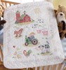"Picture of Bucilla Stamped Crib Cover Cross Stitch Kit 34""X43""-On The Farm"