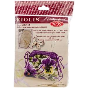 "Picture of RIOLIS Counted Cross Stitch Kit 4.25""X3.25""-Pansy Pincushion (14 Count)"