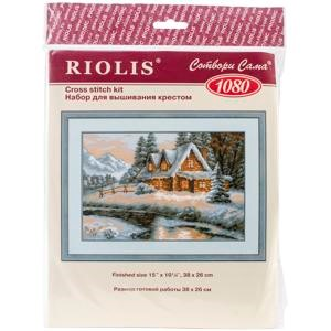 "Picture of RIOLIS Counted Cross Stitch Kit 15""X10.25""-Winter View (14 Count)"