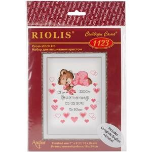 "Picture of RIOLIS Counted Cross Stitch Kit 7""X9.5""-Girls Birth Announcement (14 Count)"