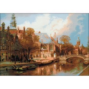 "Picture of RIOLIS Counted Cross Stitch Kit 21.25""X15.75""-Amsterdam (14 Count)"