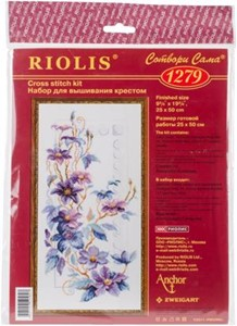 "Picture of RIOLIS Counted Cross Stitch Kit 9.75""X19.75""-Clematis (14 Count)"