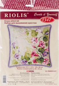 "Picture of RIOLIS Counted Cross Stitch Kit 15.75""X15.75""-Pastel Bindweed Cushion (10 Count)"