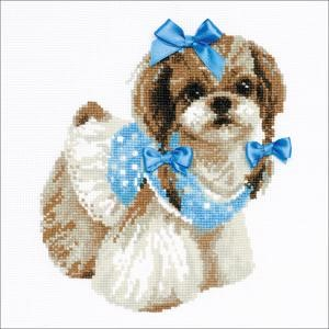 "Picture of RIOLIS Counted Cross Stitch Kit 9.75""X9.75""-Shih Tzu (14 Count)"
