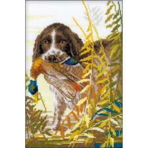 "Picture of RIOLIS Counted Cross Stitch Kit 7""X10.75""-Hunting Spaniel (14 Count)"