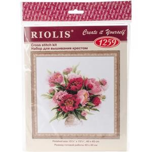 "Picture of RIOLIS Counted Cross Stitch Kit 15.75""X15.75""-Peonies In A Vase (10 Count)"