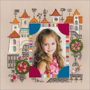 "Picture of RIOLIS Counted Cross Stitch Kit 11.75""X11.75""-Photo Frame Princess Castle (14 Count)"