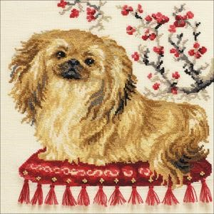 "Picture of RIOLIS Counted Cross Stitch Kit 9.75""X9.75""-Pekinese (15 Count)"