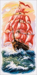 Picture of Collection D'Art Stamped Cross Stitch Kit 24X47cm-Sail