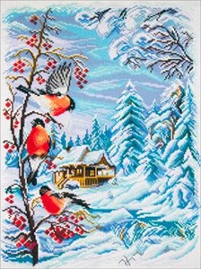 Picture of Collection D'Art Stamped Cross Stitch Kit 49X37cm-Russian Winter
