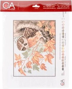 Picture of Collection D'Art Stamped Cross Stitch Kit 28X34cm-Owl
