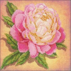 "Picture of RIOLIS Stamped Cross Stitch Kit 7.75""X7.75""-Peony (14 Count)"