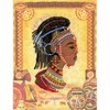 "Picture of RIOLIS Stamped Cross Stitch Kit 11.75""X15.75""-African Princess (14 Count)"