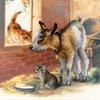 "Picture of RIOLIS Stamped Cross Stitch Kit 11.75""X11.75""-Goatling & Kitten (10 Count)"