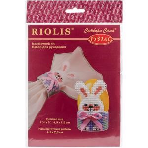 "Picture of RIOLIS Plastic Canvas Kit 1.5""X2.75""-Bunny Egg Stand (10 Count)"