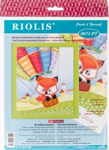 "Picture of RIOLIS Stamped Cross Stitch Kit 6""X7""-Little Fox"