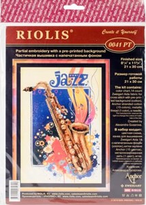 "Picture of RIOLIS Stamped Cross Stitch Kit 8.25""X11.75""-Jazz (14 Count)"
