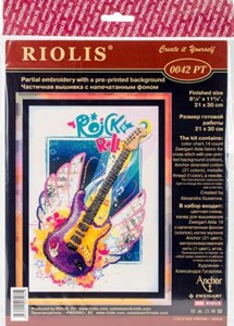"Picture of RIOLIS Stamped Cross Stitch Kit 8.25""X11.75""-Rock 'n' Roll (14 Count)"
