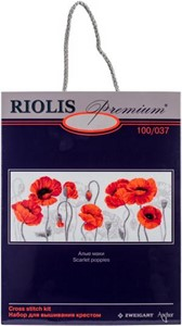 "Picture of RIOLIS Counted Cross Stitch Kit 27.5""X11.75""-Scarlet Poppies (14 Count)"