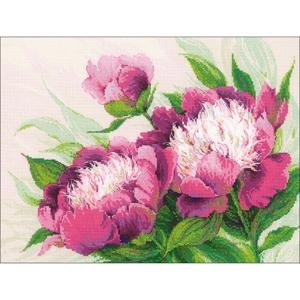 "Picture of RIOLIS Counted Cross Stitch Kit 15.75""X11.75""-Pink Peonies (14 Count)"