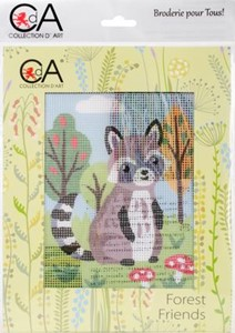 Picture of Collection D'Art Stamped Needlepoint Kit 20X25cm-Raccoon