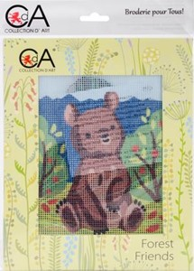 Picture of Collection D'Art Stamped Needlepoint Kit 20X25cm-Bear