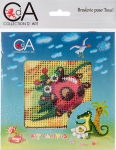Picture of Collection D'Art Stamped Needlepoint Kit 15X15cm-Ladybug