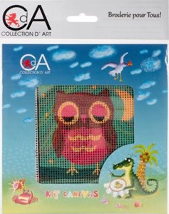 Picture of Collection D'Art Stamped Needlepoint Kit 15X15cm-Owlet