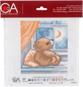 Picture of Collection D'Art Stamped Cross Stitch Kit 20X22cm-Time To Sleep