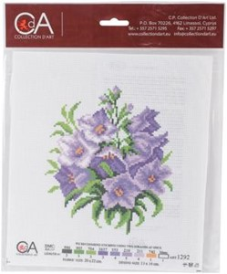 Picture of Collection D'Art Stamped Cross Stitch Kit 20X22cm-Bluebells
