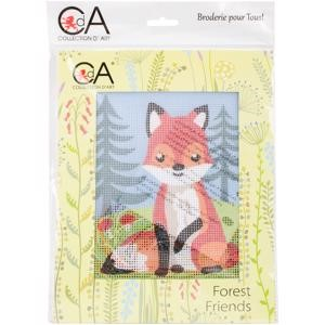 Picture of Collection D'Art Stamped Needlepoint Kit 20X25cm-Fox-Cub