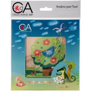 Picture of Collection D'Art Stamped Needlepoint Kit 15X15cm-Tree With Bird