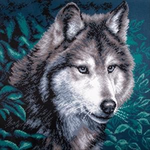 Picture of Collection D'Art Stamped Cross Stitch Kit 41X41cm-Wolf