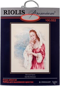 "Picture of RIOLIS Counted Cross Stitch Kit 15.75""X19.75""-Tender Gaze (14 Count)"