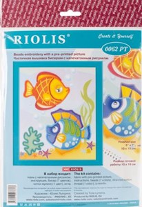 "Picture of RIOLIS Stamped Cross Stitch Kit 6""X7""-Sea Fish"