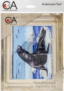 Picture of Collection D'Art Stamped Needlepoint Kit 14X18cm-Seal On Ice