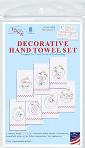 "Picture of Jack Dempsey Stamped Decorative Hand Towels 17""x28"" 7/Pkg-Christmas Ornaments"