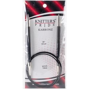 "Picture of Knitter's Pride-Karbonz Fixed Circular Needles 40""-Size 10.75/7mm"