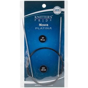 "Picture of Knitter's Pride-Nova Platina Fixed Circular Needles 32""-Size 0/2mm"