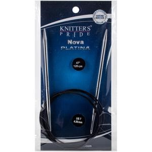 "Picture of Knitter's Pride-Nova Platina Fixed Circular Needles 47""-Size 7/4.5mm"